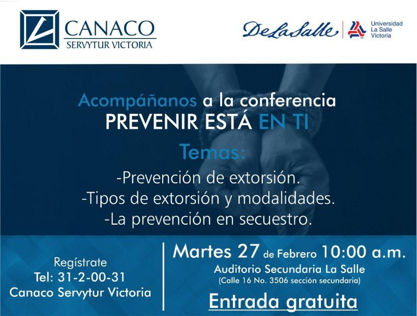 "Conferencia ""Prevenir está en ti"""