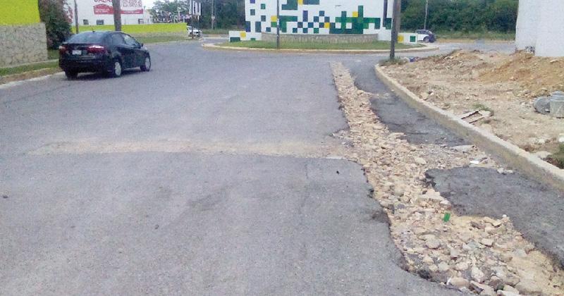 Calle en mal estado en Ciudad Victoria por obras de COMAPA