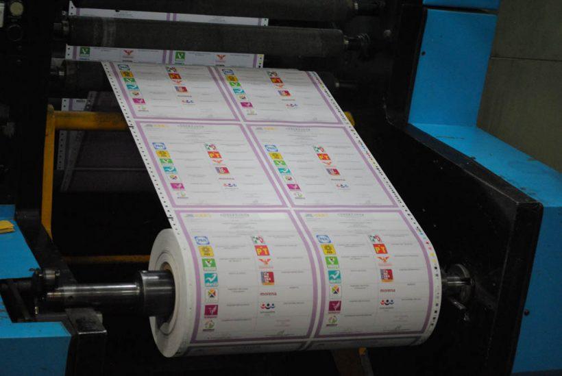 Inicia INE impresión de boletas electorales