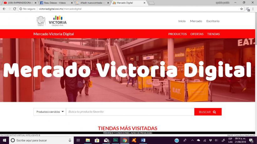 Exhorta a la población a visitar Victoria Digital