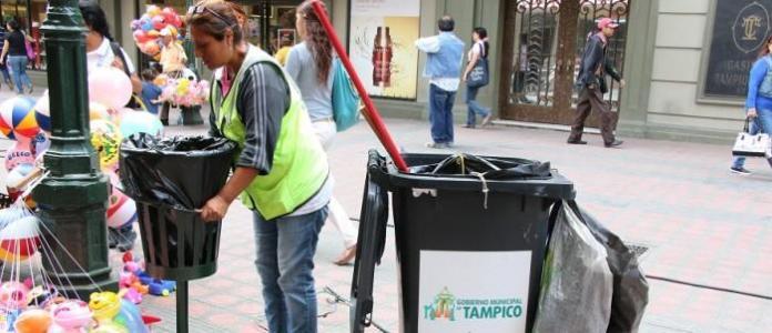 Limpieza publica en Tampico