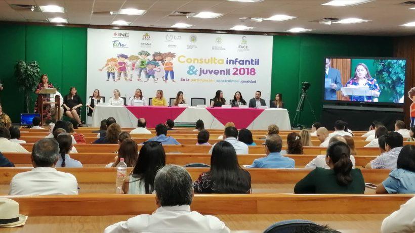 Presenta INE resultados de la consulta infantil y juvenil 2018